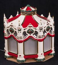 Dept 56 Snow Village Carnival Carousel Musical Lighted Display SEE VIDEO