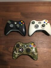 Microsoft XBOX 360 3 Controller Controllers FOR PARTS OR REPAIR No Batteries
