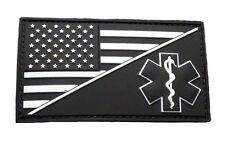 EMT USA Flag Medic Ems Paramedic PVC Rubber Hook Patch (PVM3-Glow Dark)