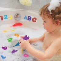 US 36x Toddler A-Z 0-9 Foam Letters Numbers Baby Kids Bath Stick Toys G