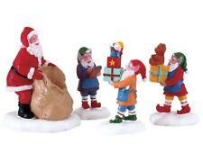 Lemax Present Procession (667) Weihnachtsdorf, Weihnachtsfiguren, Santa Claus