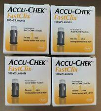 New Sealed Accu-Chek FastClix 100+2 Lancets X 4 Boxes 2023 Expiration