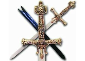 Deluxe King Solomon Sword with Leather Sheath