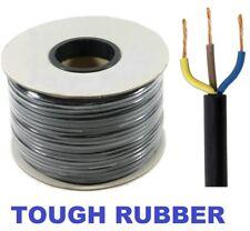 50 Mètre 3183TRS noir 1.5 mm 3 Core Dur Caoutchouc Souple Secteur Câble 240 V