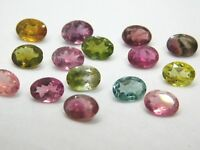 15 Pieces Wholesale Lot 7x5 mm Oval Cut Natural Multi Tourmaline Loose Gemstones
