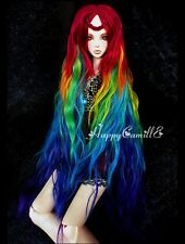 BJD Doll Hair Wig 7-8 inch 18-20 cm Mix Red Green Yellow Blue 1/4 MSD DOD LUTS