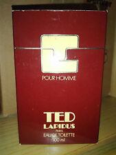 TED LAPIDUS POUR HOMME eau de toilette 100 ml. splash vintage edt 1978
