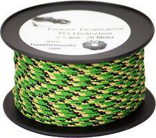 20m Paracord Flechtschnur 2,5mm grün/braun/schwarz MULTICOLOR Mantelschnur