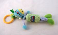 Nuby Plush Sensory Toy Comforter 28cm Soft Toy Jingly Bell Rattle Pram Hanger