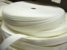 """25 yards of 1 """" White Webbing Polypro Strapping"""