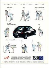1995 : Campagne publicitaire voiture Peugeot 106 (publicité, advertising)