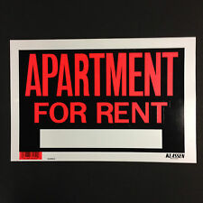 "APARTMENT FOR RENT - Flexible  Plastic Sign - 12"" x 8""  ( Lot of 3 ) Brand  New"