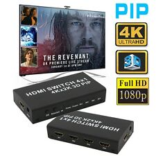 4x1 HDMI 1.4b Switch Picture in Picture PIP Support 4Kx2K 3D w/ Power Adapter