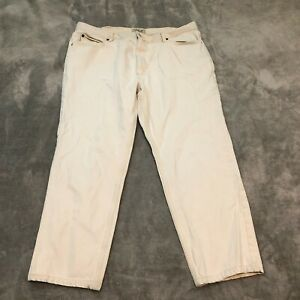 LL Bean Men's Classic Fit White Jeans 40 x 29