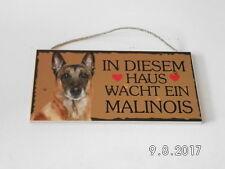 Türschild Malinois, Tierschild Hund aus Holz, Holzschild, deutsche Herstellung