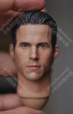 "custom 1/6 scale Head Sculpt Ryan Reynolds fit 12"" male body toys"