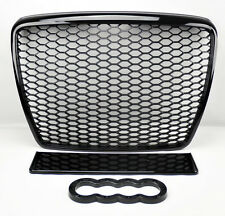 Audi A6 S6 08-11 RS Style Glossy Black Mesh Front Hood Bumper Grill