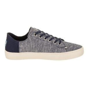 New TOMS Lenox Twill Canvas Sneakers men's shoes size 10.5