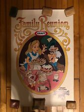 Disneyland 25th Alice In Wonderland Family Reunion Big Poster Kraft Foods 1979