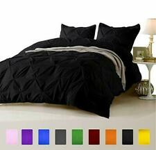 1000 TC Egyptian Cotton 3 PC or 5 PC Pinch Pleated Comforter Set Black Colors