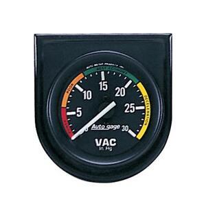 """Auto Meter Vacuum Gauge 2337; Auto Gage 2-1/16"""" Mechanical Vacuum-30"""" HG"""