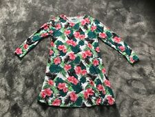 BN Daisy Street Asos Long Sleeve Dress In Tropical Floral Print UK12