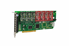 OpenVox A800P34 8 Port Analog PCI Base Card + 3 FXS + 4 FXO, Ethernet (RJ45)
