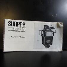 Used Sunpak Auto 422D Flash  Owners Manual Guide O401619