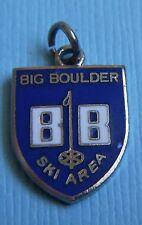 Vintage enamel Big Boulder ski area Poconos Pennsylvania silver tone charm