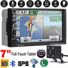 """7"""" 2DIN HD Touch Screen Car GPS Stereo MP3 MP5 Player Bluetooth FM Radio +Camera"""