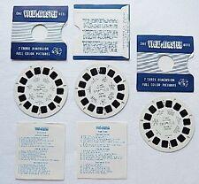 Set of 3 View Master Reels C 3401 C3402 C3403 Northern Ireland Vintage 1950s