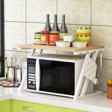 US 2 Tier Kitchen Baker Rack Microwave Oven Stand Storage Cart Workstation Shelf