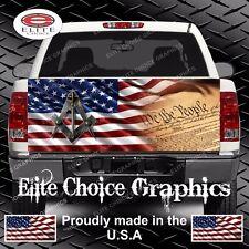 Free Mason American Flag Truck Tailgate Wrap Vinyl Graphic Decal Sticker Wrap