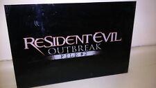 Resident Evil Outbreak File #2. ULTRA SCARCE PROMO LUCITE/ HARDPLASTIC SIGN.