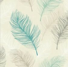 Whisper Feather Teal Arthouse Opera Feature Wallpaper 669804