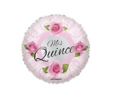 """Set Of 10 Mis Quince 18"""" Balloon Birthday Party Decorations"""