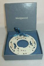 Wedgwood 1992 White Jasper Noel Wreath Ornament #2 - Mib