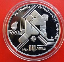 Bulgaria-Bulgarien: 10 Leva 1987 Silber, KM# 184, PP-Proof,  #F 0995