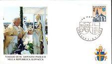 315- FDC VATICAN VISITE PAPE JEAN PAUL II  EN SLOVAQUIE