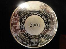 The Franklin Mint 2001 Large Calendar Medal 8.56 toz Trimmillium