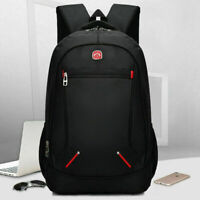 "16"" New Fashion Mens School Travel Backpack Laptop Notebook Zipper Bag BL"