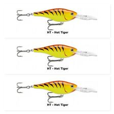 "(3) Rapala Shad Rap Rattlin Suspend 2 3/4"" Crankbait 7/16 Oz Hot Tiger SRRS-7 HT"