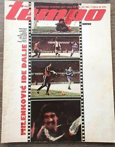 Magazine TEMPO 825 football Feyenoord Radnicki Nis game report Yugoslavia 1981