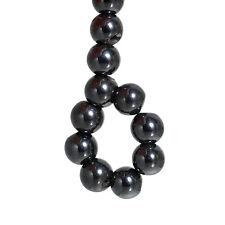 Lot 10 Perle Hematite Noir 10mm Magnetique Creation bijoux, bracelet, Collier