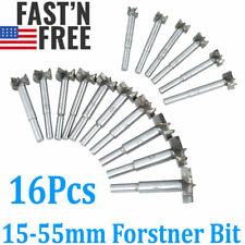 16Pcs/Set Woodworking Forstner Wood Drill Bit Set Boring Hole Saw Cutter Tool Us