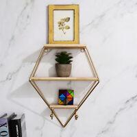 Metal Wall Hanging Shelf Display Rack Storage Holder Floating Shelves Home Decor