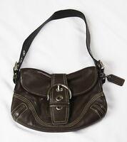 Authentic Coach SOHO Brown Leather Buckle Hobo Handbag Shoulder Bag Purse EUC