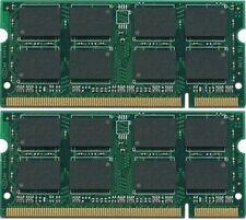 New PC2 4GB 2x2GB PC2-5300 DDR2-667 200pin Sodimm Laptop Memory RAM NON-ECC