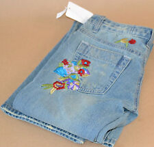 "NEW JOES JEANS EMBROIDERED FLOWERS WOMEN PANTS 25"" X 33""  FREE PRIORITY SHIP"
