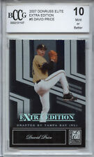DAVID PRICE Red Sox 2007 Donruss Elite rookie BGS BCCG 10 graded MINT!!